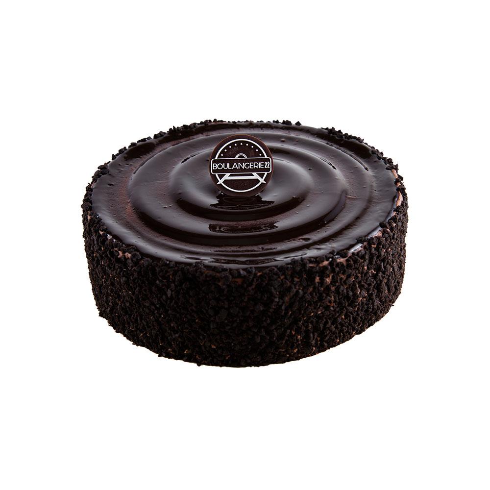 Dark Chocolate Fudge Crunch Cake